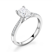 Diamond Solitaire Engagement Ring Emerald Cut 0.60cts G-si1 Gia Certificate