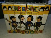 Complete Set Of 8 Vhs The Beatles Cartoons Produced-king Features Syndicate 80's