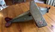 1930's Steelcraft Pressed Steel Airplane Toy