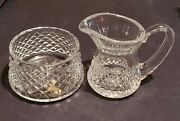 Waterford Crystal Alana Creamer And Open Sugar Bowl Set - New