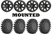 Kit 4 Sti Outback Max Tires 32x10-14 On Frontline 308 Gloss Black Wheels Irs