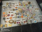 Joblot Brooches And Pins Vintage 150 Pieces + 8 Pieces Silver And Medals Best Offer