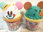 Tokyo Disney Pastel Mickey And Blue Mickey Set2 Pink Pop Paradise Candy Can Empty