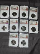 2018 2019 Great Britain Ngc Ms62-64 Dpl Great British Coin Hunt Lot 10p