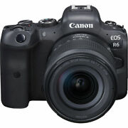 Canon Eos R6 Mirrorless Digital Camera With 24-105mm F/4-7.1 Lens