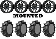 Kit 4 Interco Interforce 628 Tires 33x8-18 On Msa M43 Fang Matte Black Ter