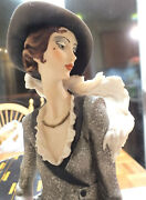 Guiseppe Armani Lady With Powder Puff Porcelain Figurine Florence 1987 In Box