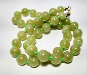 Antique China Export Natural Icy Apple Green Jade Jadeite Necklace