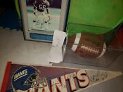 Nfl Memrobilia Lot Of 1993 Ny Giants Team Signed Ball And Much More