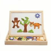 Magnetic Puzzles Toys For Children Kids Educational Wooden Jigsaw Toys 3d Puzzle