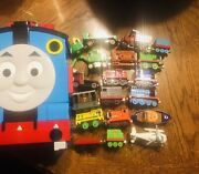 Thomas The Train Storage Take Along Carry Case With Handle 2008 And 18 Pieces