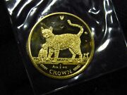2002 1/2 Oz. Gold Isle Of Man Bengal Cat Gold Coin Mint Sealed