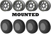 Kit 4 Sti Chicane Rx Tires 30x10-14 On Kmc Ks234 Addict 2 Beadlock Gray 1kxp