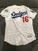 Andre Ethier 2017 Mlb Debut World Series Game Used Worn Jersey Dodgers Mlb Auth