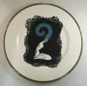 House Of Erte Porcelain Plate Mikasa Charger Plate The Numerals 2 A3203 1987