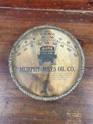 Rare Vtg 30s Murphy Miles Fuel Oil 7 Glass Thermometer Sign Pasadena Maryland