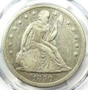 1850-o Seated Liberty Silver Dollar 1 - Pcgs Xf Details Ef - Rare Date Coin