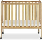 Dream On Me 2 In 1 Portable Folding Stationary Side Crib Bed Nursery Furniture