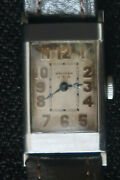 Waltham Usa Mens Mechanical Dress Watch Beige And Gold Face Leather Strap