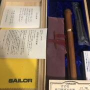 Sailor Bamboo Fountain Pen 21k Gold Nmf Used Genuine Free Shipping From Japan
