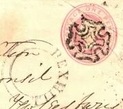 Gb Maltese Cross Cover 1843 Penny Pink Bexhill Udc Sussex Super Battle Mx X150