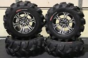 Yamaha Grizzly 660 25 Executioner Atv Tire And Ss212 M Wheel Kit Irs1ca