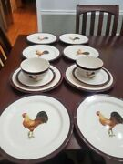 Set Of Vintage Rooster Plates/bowls/mugs - Creative Tops Made In England