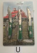 Schrade Taylor Knife Tractcom1cp Tractor Up 3 Knife Set. New In Package