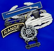 Us Army Shooting Badge Rifle Combat Action Infantry Air Assault Jump Wing Ranger