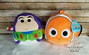 ☆new☆ 2 Sets Squishmallows Disney 10 Buzz And Nemo Toy Story Soft Plush Toy