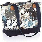 Thirty One Demi Day Tote Lunch Cosmetic Bag Purse Zip 31 Gift In Brushed Bloom