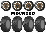 Kit 4 Itp Terra Claw Tires 27x9-14 On System 3 St-5 Bronze Wheels Fxt