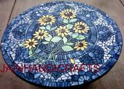 4and039x4and039 Marble Table Top Dining Coffee Center Inlay Blue Lapis Decor Mosaic