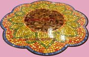 4and039x4and039 Marble Coffee Table Top Center Pietra Dura Inlay Home Garden Decor Mosaic