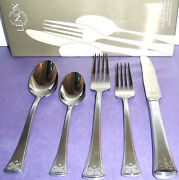 Lenox Autumn Legacy 5 Piece Place Setting Stainless Flatware New In Box
