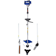 2 Cycle Gas String Trimmer Full Crank 4in1 With Pole Saw Attachment 26 Cc Blue