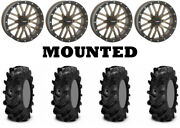 Kit 4 Itp Cryptid Tires 36x10-18 On System 3 St-3 Bronze Wheels Pol