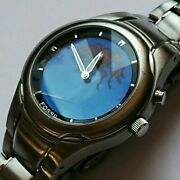 Vintage Fossil Spiderman Animated No Game Watch Blue Dial