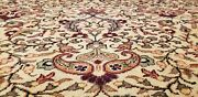 Exquisite Antique 1940and039s Wool Pile Muted Colors Hereke Area Rug 8and0395andtimes11and0399