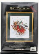 Dimensions Gold Collection Windswept Santa Counted Cross Stitch 8449 Holiday