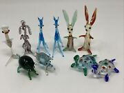 Murano Figurines 2 Fawn 2 Pig 2 Turtle And 2 Rabbits 2 Extra 10 Pcs Set Guc Nice