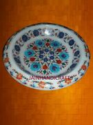 14 Antique Marble-round-serving-plate Lunch Makrana Mosaic Inlay Decor Arts