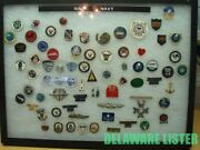 ✅ Mixed Lot Of 75+ Us Military Navy Hat/shirt Pin Pins Collection Few Rare +case
