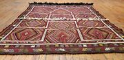 Exquisite Natural Dye Antique Cicim Flat Woven Wool Bohemian Kilim 4and0397andtimes5and0397