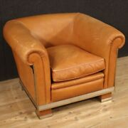 Italian Design Armchair Furniture In Leather Living Room Chair Vintage Modern