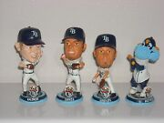 Tampa Bay Rays Mini Bobble Head Set Of 4 Kazmir Garza Shields And Mascot Raymond