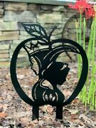 Snow White + Evil Queen-inspired Large 24 Garden Decor W/ Stakes - Free Shippin