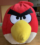 """Giant Red Angry Birds Plush 30""""x24""""x14"""" 2010 Commonwealth"""