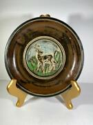 Collectible Royal Copenhagen Ceramic Deer Plate 21214 By Knud Kyhn 7 1/2 Diam.
