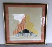 Mid Century Modern Ian Fraser Lithograph Signed Numbered Abstract Opt Art